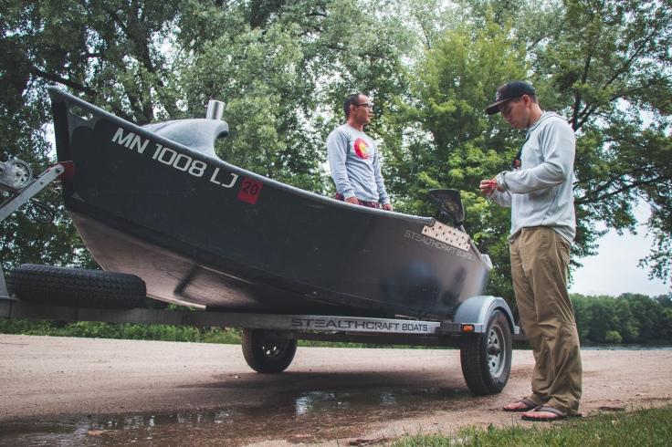 Driftboat, Mississippi River, Fly Fishing