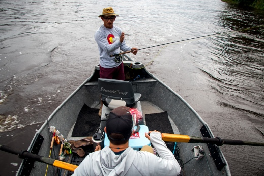 Mississippi River drift boat, fly fishing Minnesota, Mississippi river fishing