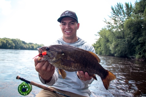 smallmouth bass, fly fishing, Mississippi river, fly fishing bass